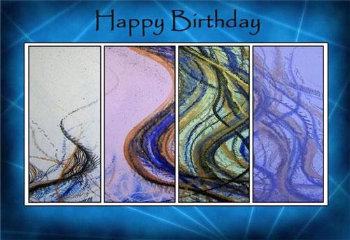 Lori clipperton art card happy birthday abstract panels bookmarktalkfo Gallery